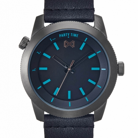 Mission WATCH STAINLESS STEEL IP GREY STRAP MEN MISSION MM