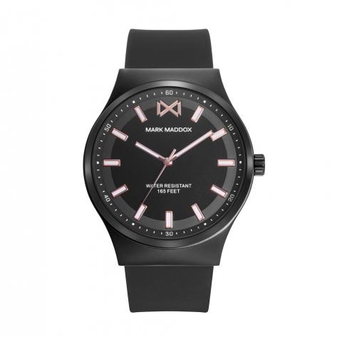 Marais_ch Reloj de Hombre Mark Maddox Marais,  tres agujas acero con correa  negra