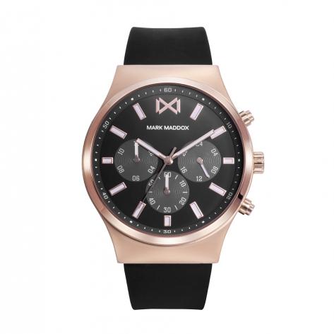 Marais_ch Reloj de Hombre Mark Maddox Marais,  multifunción, acero con correa negra