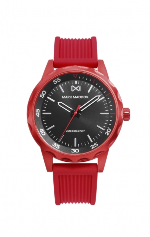Mission_ch RED ALUMINIUM WATCH STRAP MAN MM