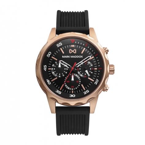 Mission_ch Reloj de Hombre Mark Maddox Mission, multifunción, aluminio con correa negra