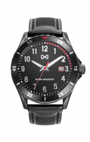 Mission_ch STAINLESS STEEL WATCH IP BLACK STRAP MAN MM