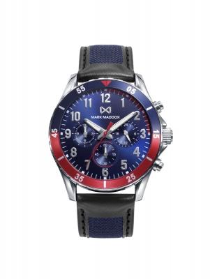 Mission_ch Reloj de Hombre Mark Maddox Mission, multifunción,acero  con correa multicolor