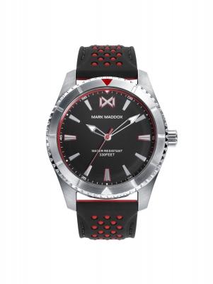 Mission_ch Reloj de Hombre Mark Maddox Mission, tres agujas, acero con correa negra