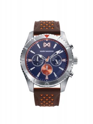 Mission_ch Reloj de Hombre Mark Maddox Mission, multifunción, acero con correa negra