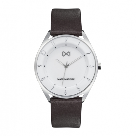 Venice Mark Maddox Venice Men's Watch three hands stainless steel with brown synthetic leather strap