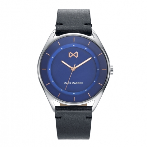 Venice Mark Maddox Venice men's watch in steel with leather strap