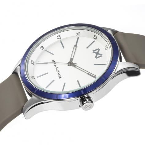 Shibuya Reloj de Hombre Mark Maddox Shibuya tres agujas de acero y aluminio con correa de silicona marrón