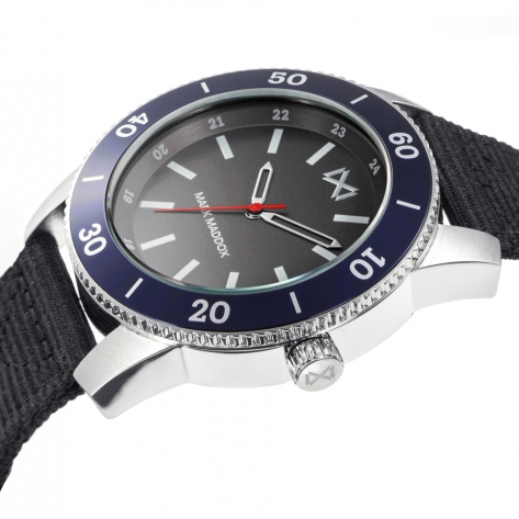 Mission_ch Mark Maddox Mission Men's Watch three hands in steel and aluminum with black nylon strap
