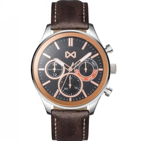 Midtown Reloj de Hombre Mark Maddox Midtown multifunción de acero y correa de piel sintética marrón