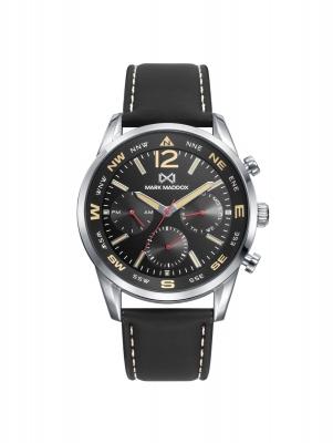 Mission_ch Reloj de Hombre Mark Maddox MISSION multifunción de acero y correa negra