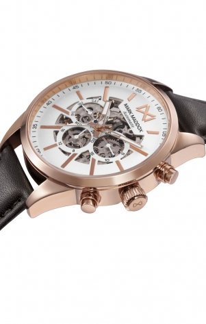 Marais_ch AUTOMATIC STAINLESS STEEL IP ROSE STRAP MAN MM