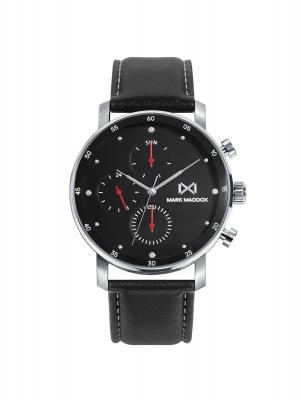 Midtown_ch Reloj de Hombre Mark Maddox Mission, multifunción, acero con correa negra