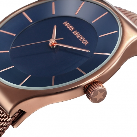 Catia Reloj de hombre Mark Maddox de tres agujas con brazalete de malla milanesa