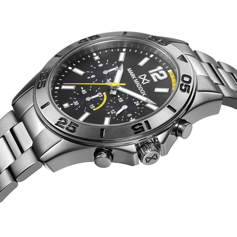Mission Reloj de Hombre Mark Maddox Mission multifunción de acero IP gris y brazalete