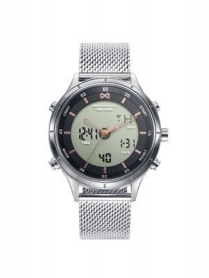 Shibuya_bh Reloj de Hombre Mark Maddox Shibuya analógico y digital de acero con malla milanesa