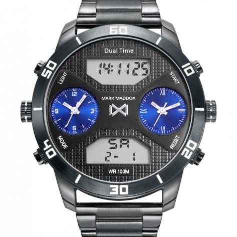 Mission Reloj de Hombre Mark Maddox Mission analógico y digital de acero con IP gris y brazalete