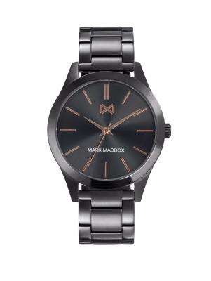 Marais_bh Reloj de Hombre Mark Maddox Marais tres agujas de acero IP gris y brazalete