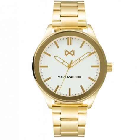 Midtown Reloj de Hombre Mark Maddox Midtown tres agujas de acero IP dorado y brazalete