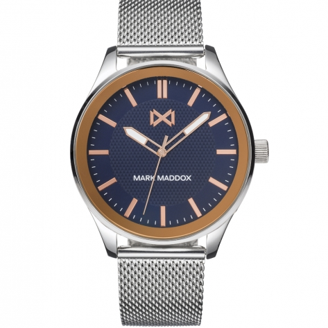 Midtown Reloj de Hombre Mark Maddox Midtown tres agujas de acero y malla milanesa