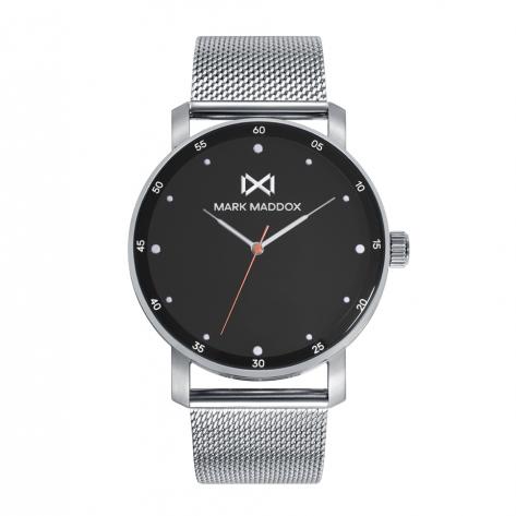Midtown Reloj de Hombre Mark Maddox Midtown,tres agujas , acero con malla milanesa