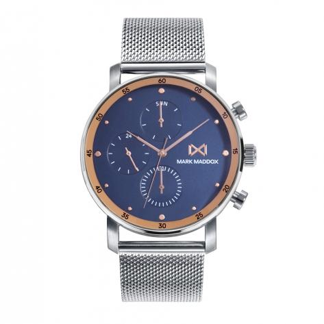 Midtown Reloj de Hombre Mark Maddox Midtown,multifunción , acero con malla milanesa