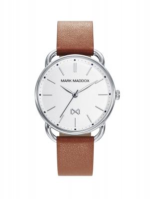 Midtown Reloj de Mujer Mark Maddox Midtown MC7111-07 de acero y correa de piel marrón