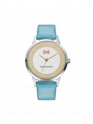 Northern Reloj de Mujer Mark Maddox Tooting tres agujas de acero y correa de piel sintética azul