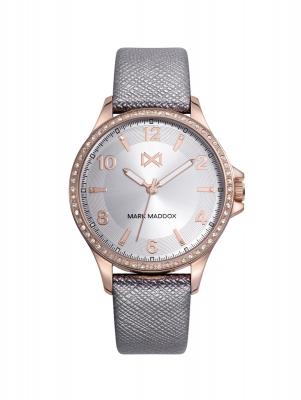 Tooting_cm Reloj de Mujer Mark Maddox Tooting, tres agujas, acero con correa gris
