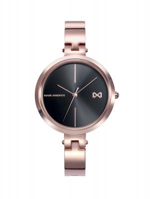 Alfama Reloj de Mujer Mark Maddox Alfama tres agujas de acero IP rosa y brazalete semirígido