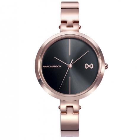 Alfama Women's Watch Mark Maddox Alfama three hands in pink IP steel and semi-rigid bracelet