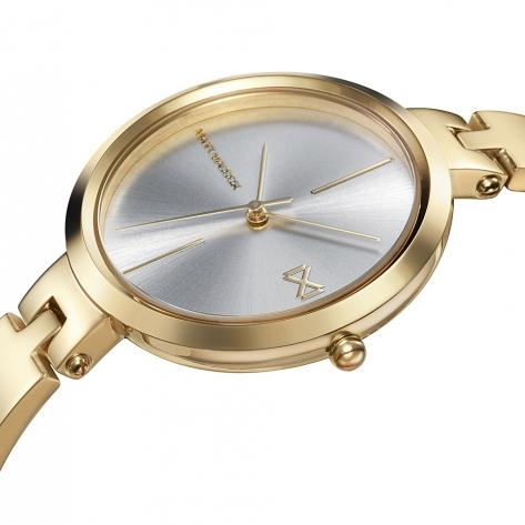Alfama Women's Watch Mark Maddox Alfama three hands gold-plated steelIP and semi-rigid bracelet
