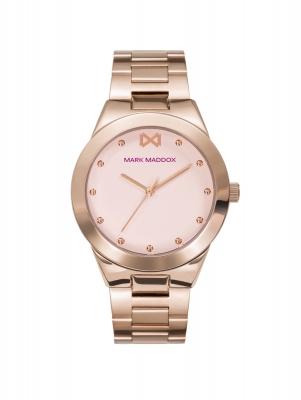 Alfama Reloj de Mujer Mark Maddox Alfama tres agujas de acero IP rosa y brazalete
