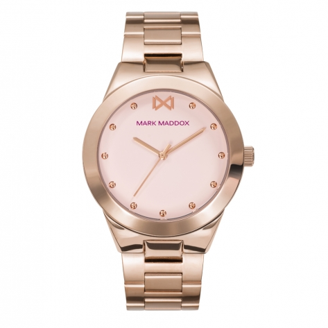 Alfama Women's Watch Mark Maddox Alfama three hands in pink IP steel and bracelet