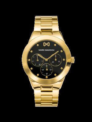 Alfama Reloj de Mujer Mark Maddox Alfama multifunción de acero IP dorado y brazalete