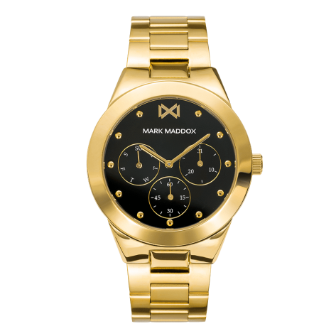 Alfama Mark Maddox Alfama multifunction women's watch in gold-plated IP steel with bracelet