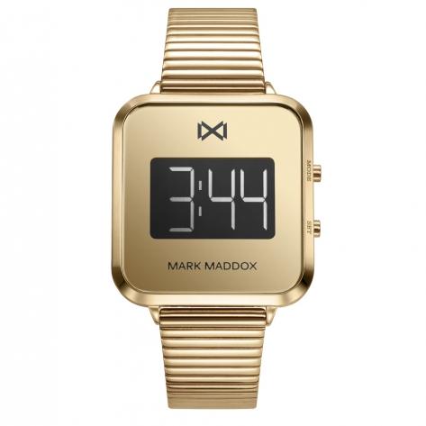 Notting Reloj de Mujer Mark Maddox Notting digital de acero con IP dorado y brazalete
