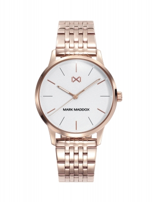 Northern Reloj de Mujer Mark Maddox Northern tres agujas de acero y brazalete con IP rosa