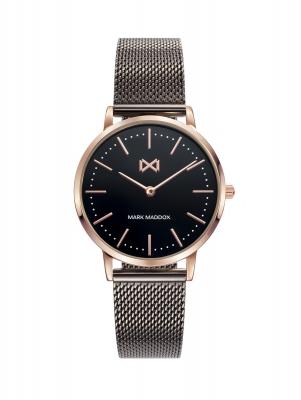 Greenwich Reloj de mujer Mark Maddox Greenwich de acero con IP negro y rosa