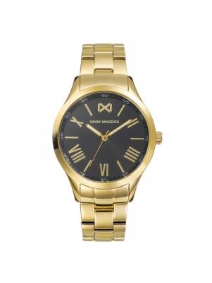 Tooting_bm Reloj de Mujer Mark Maddox Tooting tres agujas de acero IP dorado y brazalete