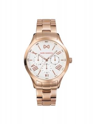 Tooting_bm Reloj de Mujer Mark Maddox Tooting multifunción de acero IP rosa y brazalete