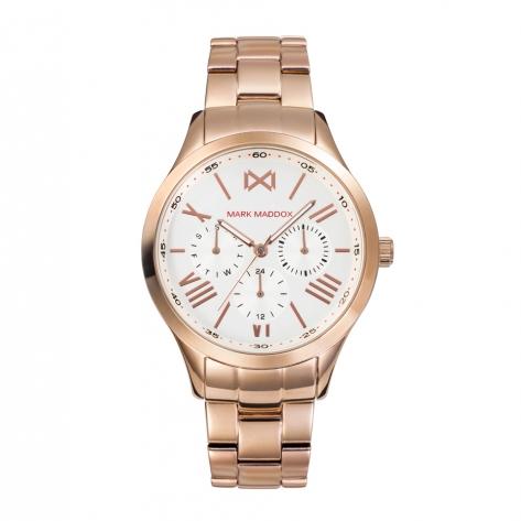 Tooting Reloj de Mujer Mark Maddox Tooting multifunción de acero IP rosa y brazalete