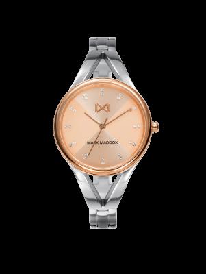 Alfama Reloj de Mujer Mark Maddox Alfama tres agujas de acero bicolor y brazalete