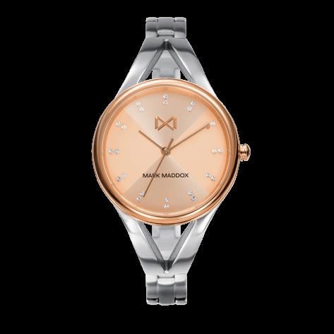 Alfama Women's Watch Mark Maddox Alfama three hands in two-tone steel and bracelet