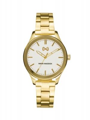 Midtown Reloj de Mujer Mark Maddox Midtown tres agujas de acero IP dorado y brazalete