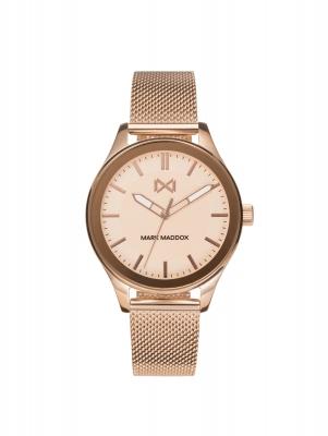 Midtown Reloj de Mujer Mark Maddox Midtown tres agujas de acero IP rosa y malla milanesa