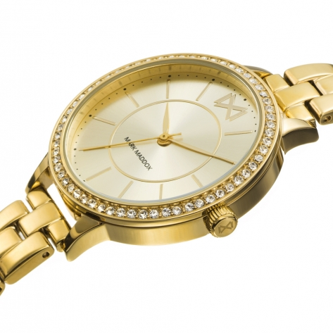 Alfama Women's Watch Mark Maddox Alfama three hands gold plated IP steel and bracelet