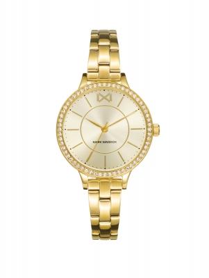 Alfama Reloj de Mujer Mark Maddox Alfama tres agujas de acero IP dorado y brazalete