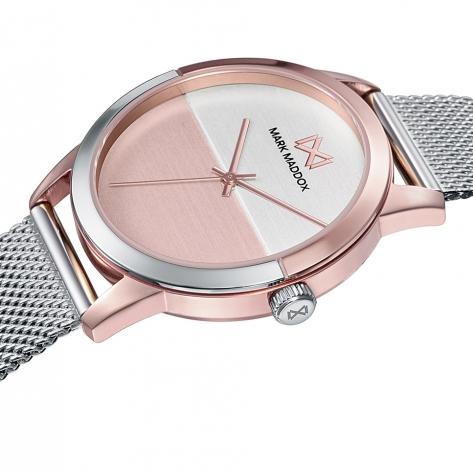 Catia Reloj de Mujer Mark Maddox Catia tres agujas de acero con IP rosa y malla milanesa