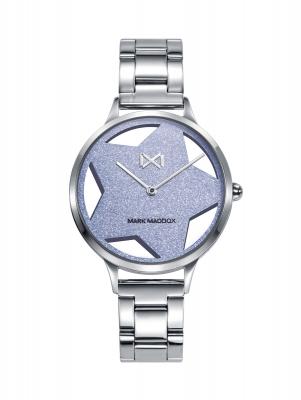 Tooting_bm Reloj de Mujer Mark Maddox Tooting, dos agujas , acero con brazalete